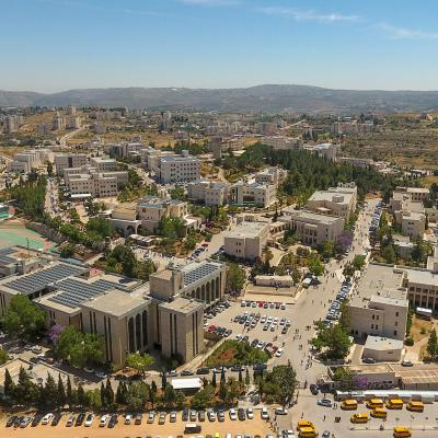 Aerial Aerial photograph of Birzeit University's campus